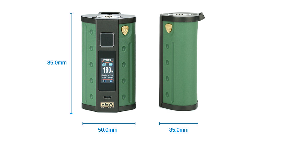 DEJAVU DJV D7 180W Touch Screen TC Box MOD