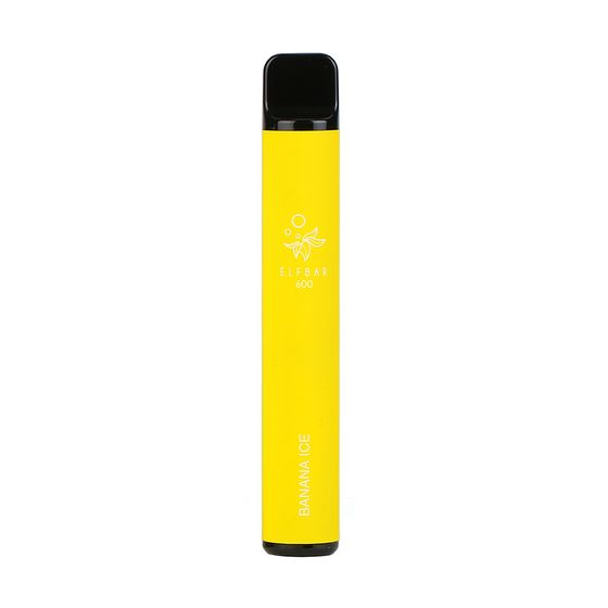 UK shop [OEM] Elf Bar Disposable Pod Device 600 Puffs Flavor: Banana Ice | Strength: 2% Nicotine