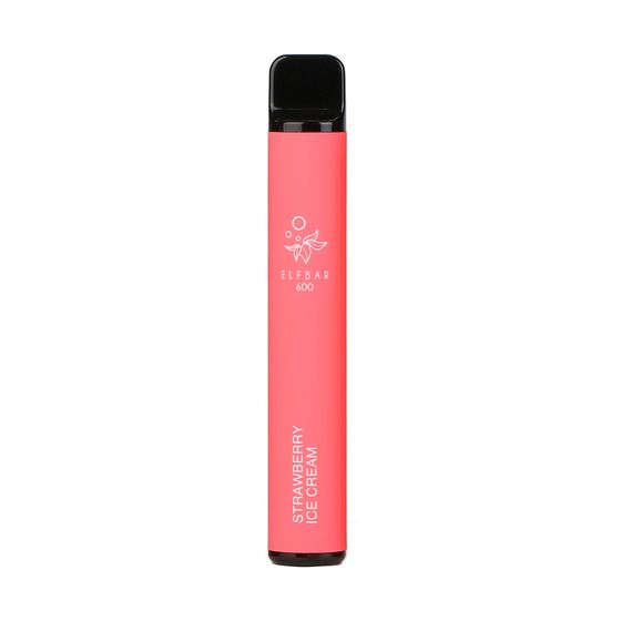 [OEM] Elf Bar Disposable Pod Device 600 Puffs Flavor: Strawberry Ice Cream | Strength: 2% Nicotine authentic