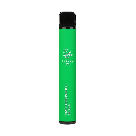 [OEM] Elf Bar Disposable Pod Device 600 Puffs Flavor: Kiwi Passion Fruit Guava | Strength: 2% Nicotine UK store