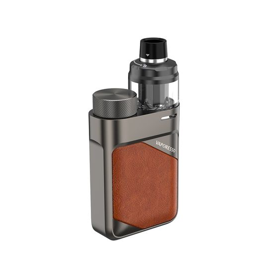 Vaporesso Swag PX80 80W 18650 Pod Kit Type: 2ml TPD Edition | Color: Leather Brown UK shop