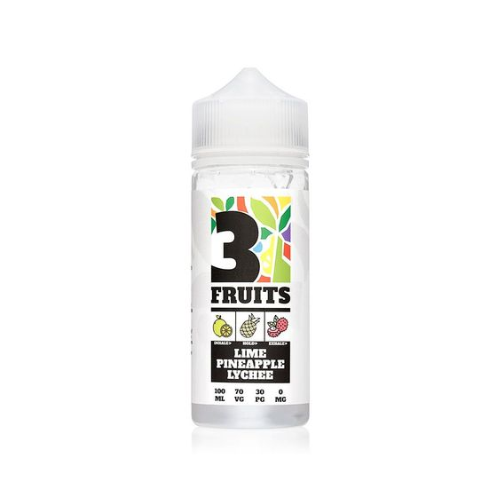 3 Fruits Shortfill E-Liquid 100ml Flavor: Lime&Pineapple&Lychee for wholesale