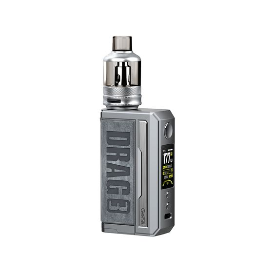 VOOPOO DRAG 3 177W TC Kit with TPP Tank Color: Smoky Grey | Type: TPD Edition wholesale