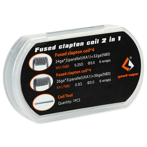 GeekVape Fused Clapton Coil 2 In 1 8pcs low price