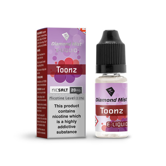 Diamond Mist Nic Salt 10ml Strength: 20mg/ml | Flavor: Toonz wholesale price
