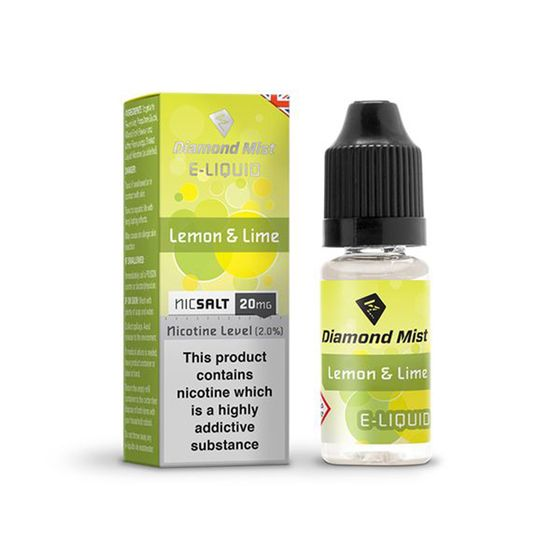 Diamond Mist Nic Salt 10ml Strength: 20mg/ml | Flavor: Lemon & Lime UK shop