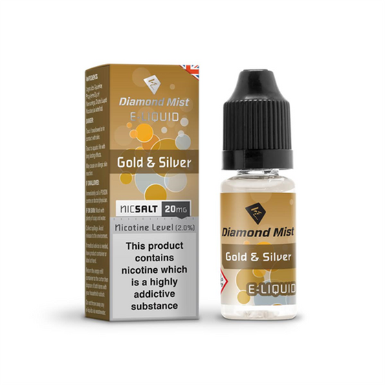 Diamond Mist Nic Salt 10ml Strength: 20mg/ml | Flavor: Gold & Silver UK supplier