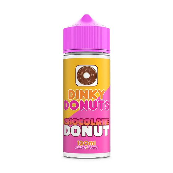 authentic Dinky Donuts Shortfill 100ml 0mg Flavor: Chocolate Donut | Strength: 0mg/ml