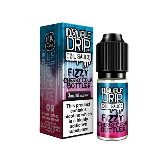 authentic Double Drip 10ml E-liquid Strength: 3mg/ml | Flavor: Fizzy Cherry Cola