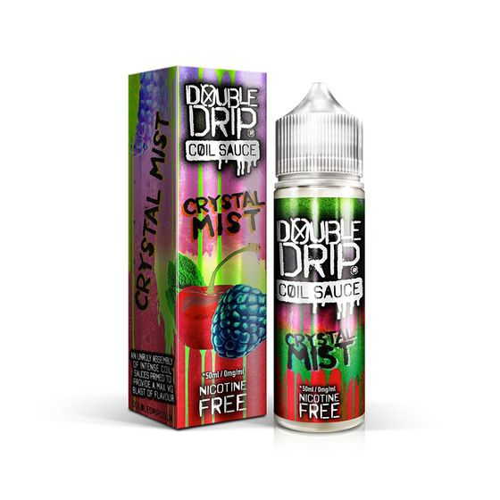 UK wholesale Double Drip 50ml Shortfill E-liquid Flavor: CRYSTAL MIST | Strength: 0mg/ml