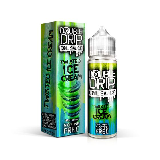Double Drip 50ml Shortfill E-liquid Flavor: TWISTED ICE CREAM | Strength: 0mg/ml UK store