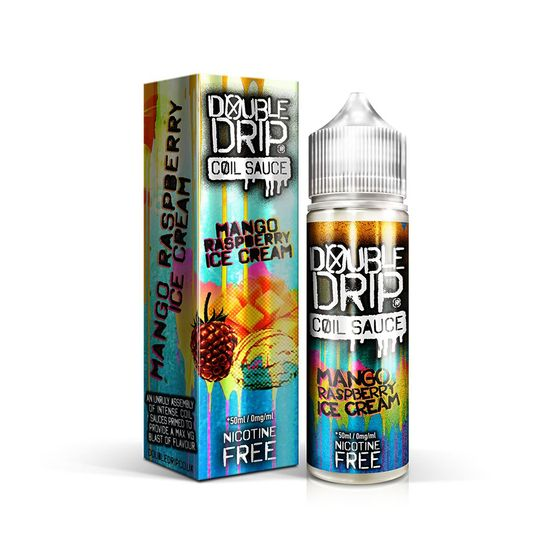Double Drip 50ml Shortfill E-liquid Flavor: MANGO RASPBERRY ICE CREAM | Strength: 0mg/ml UK store