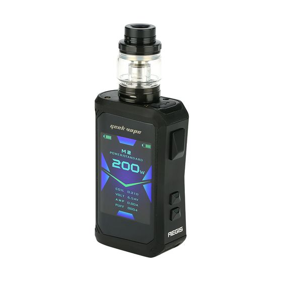 Geekvape Aegis X 200W TC Kit with Cerberus Tank Stealth Black 2ml TPD Edition UK supplier