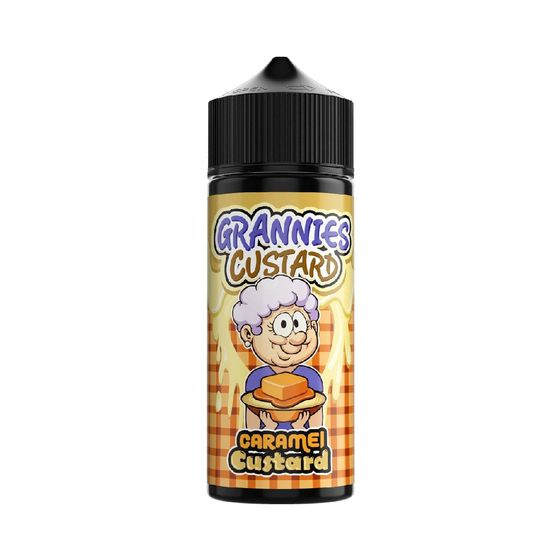 UK supplier Grannies Custard Shortfill 100ml Flavor: Caramel Custard