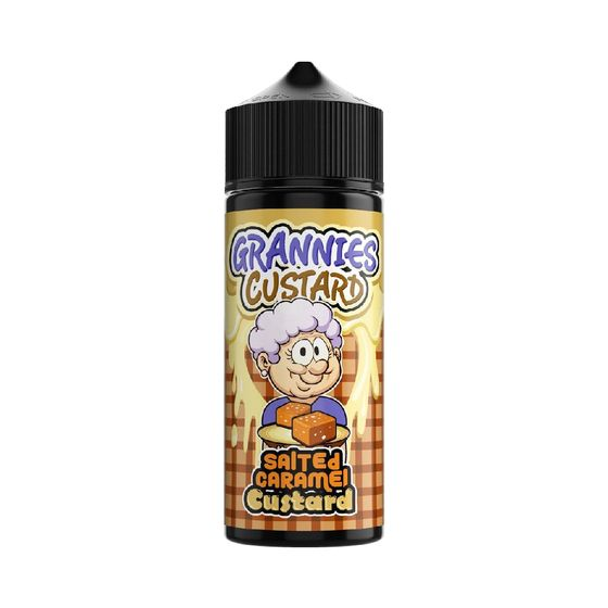wholesale price Grannies Custard Shortfill 100ml Flavor: Salted Caramel Custard