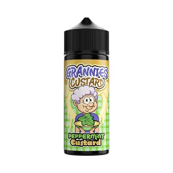 UK store Grannies Custard Shortfill 100ml Flavor: Peppermint Custard