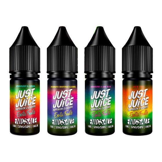 UK wholesale Just Juice Exotic Nic Salts 10ml