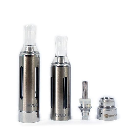 UK shop Kangertech EVOD BCC Cartomizer 1.6ml 5pcs (4 Windows) Color: Steel | Resistance: 1.8ohm