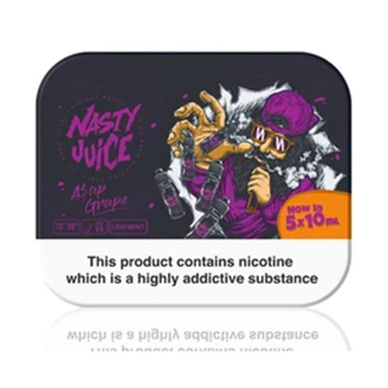wholesale Nasty Juice 5x10ml E-liquid Flavor: ASAP Grape | Strength: 3mg/ml