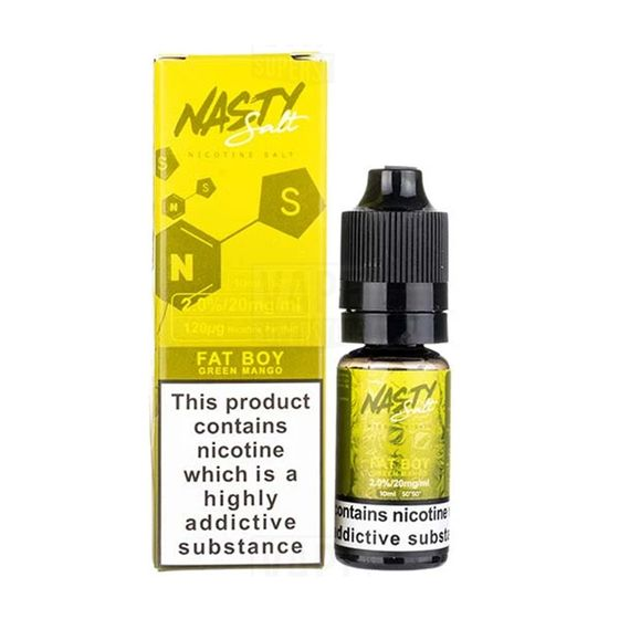 UK supplier Nasty Nic Salts 10ml Flavor: Fat Boy | Strength: 20mg/ml