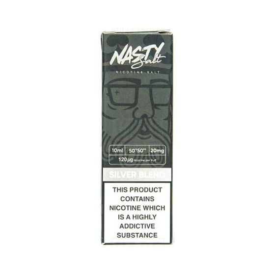 UK supplier Nasty Nic Salts 10ml Flavor: Silver Blend | Strength: 20mg/ml