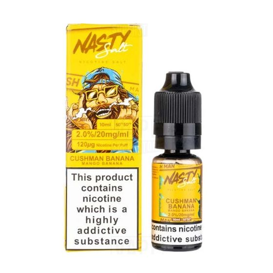 Nasty Nic Salts 10ml Flavor: Cushman Banana | Strength: 20mg/ml cheap