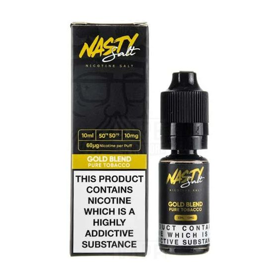 for wholesale Nasty Nic Salts 10ml Flavor: Gold Blend | Strength: 10mg/ml