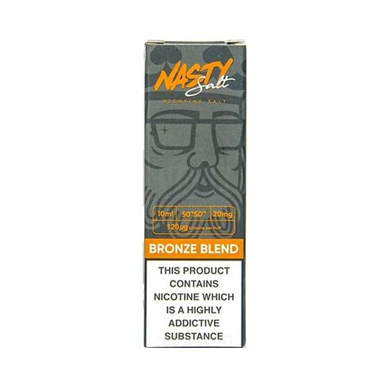 UK wholesale Nasty Nic Salts 10ml Flavor: Bronze Blend | Strength: 20mg/ml