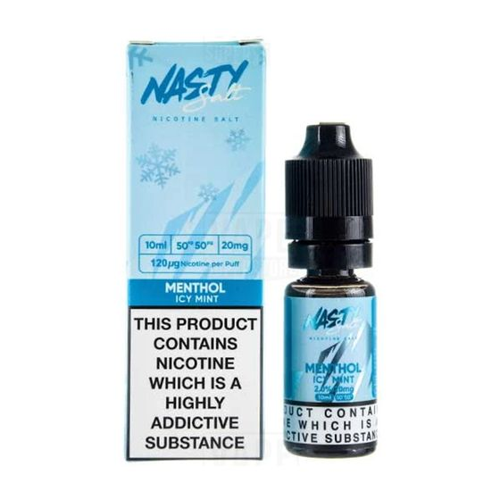 UK store Nasty Nic Salts 10ml Flavor: Menthol | Strength: 20mg/ml