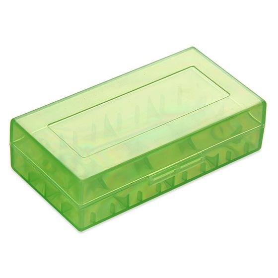 Plastic Storage Case for 18650 Battery Green for wholesale