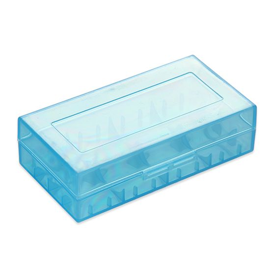 for wholesale Plastic Storage Case for 18650 Battery Blue