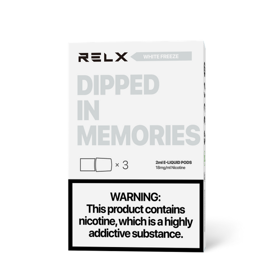 UK wholesale RELX Classic Pods with Flavors 18mg 2ml 3pcs Flavor: White Freeze   Strength: 18mg