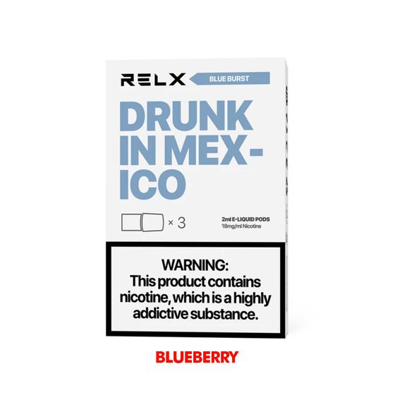 for wholesale RELX Classic Pods with Flavors 18mg 2ml 3pcs Flavor: Blue Burst | Strength: 18mg