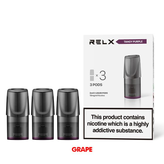 UK shop RELX Classic Pods with Flavors 18mg 2ml 3pcs Flavor: Tangy Purple | Strength: 18mg