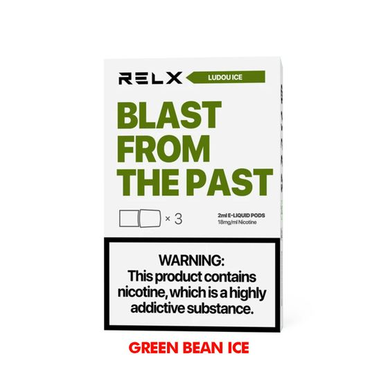 RELX Classic Pods with Flavors 18mg 2ml 3pcs Flavor: Ludou Ice | Strength: 18mg UK store