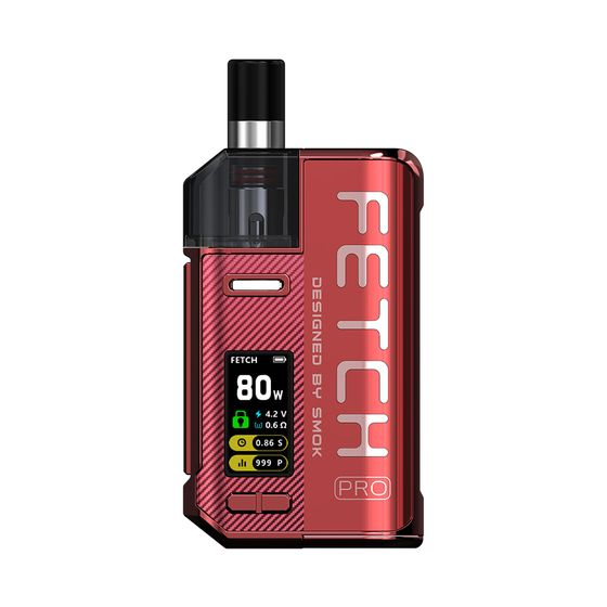 wholesale price SMOK Fetch Pro 80W VW Pod Kit Color: Red | Type: 2ml EU Edition