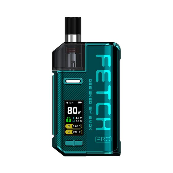 UK wholesale SMOK Fetch Pro 80W VW Pod Kit Color: Green | Type: 2ml EU Edition