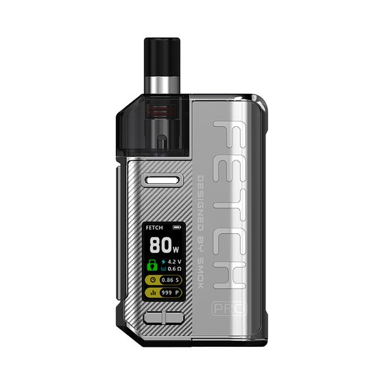 wholesale price SMOK Fetch Pro 80W VW Pod Kit Color: Silver | Type: 2ml EU Edition