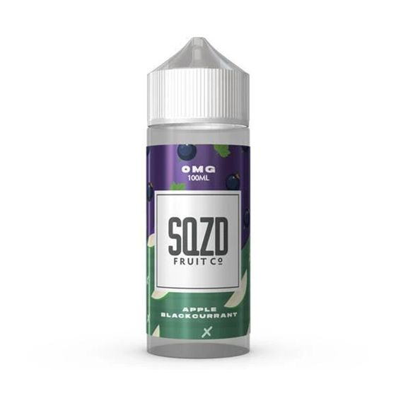 UK store SQZD E-Liquid 100ml Flavor: Apple Blackcurrant | Strength: 0mg/ml