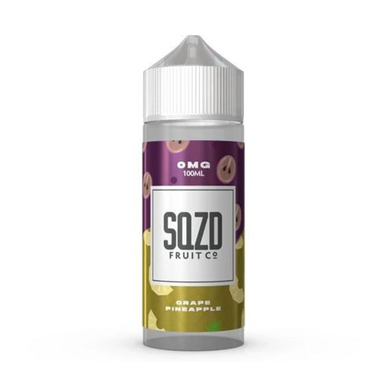 UK shop SQZD E-Liquid 100ml Flavor: Grape Pineapple | Strength: 0mg/ml