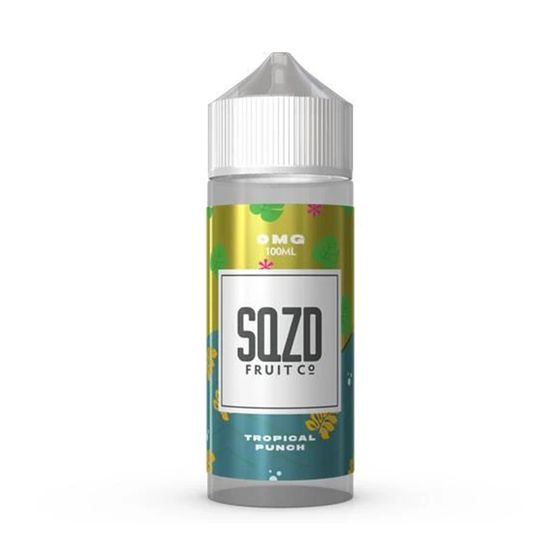 SQZD E-Liquid 100ml Flavor: Tropical Punch | Strength: 0mg/ml cheap
