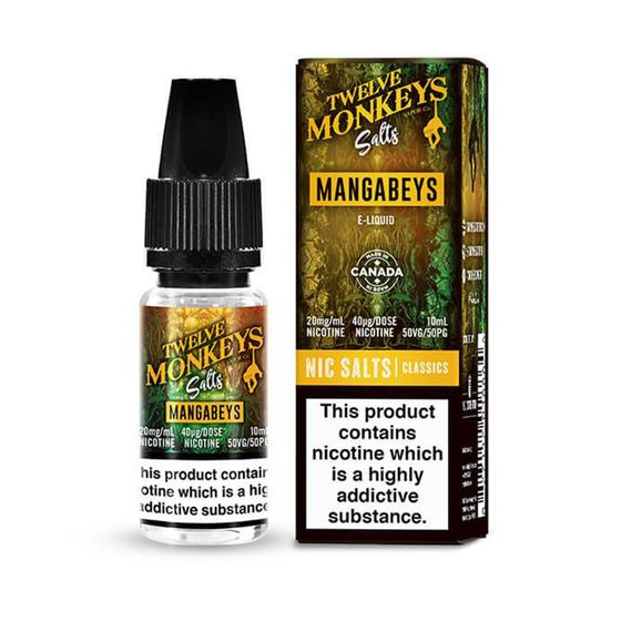 UK wholesale Twelve Monkeys Nic Salts 10ml Flavor: Mangabeys | Strength: 20mg/ml