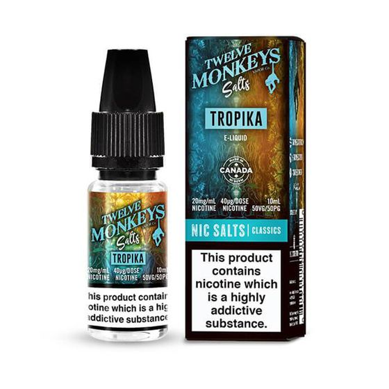 wholesale price Twelve Monkeys Nic Salts 10ml Flavor: Tropika | Strength: 20mg/ml