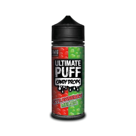 authentic Ultimate Juice Ultimate Puff Candy Drops 120ML Shortfill Flavor: Strawberry Melon | Strength: 0mg/ml