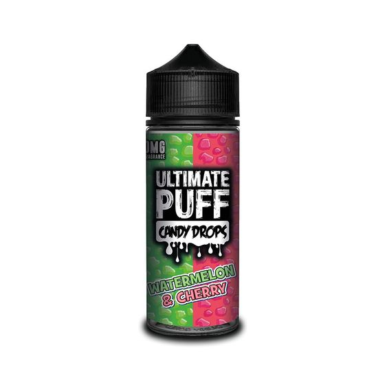 for wholesale Ultimate Juice Ultimate Puff Candy Drops 120ML Shortfill Flavor: Watermelon & Cherry | Strength: 0mg/ml