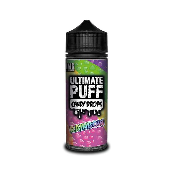 UK shop Ultimate Juice Ultimate Puff Candy Drops 120ML Shortfill Flavor: Rainbow | Strength: 0mg/ml