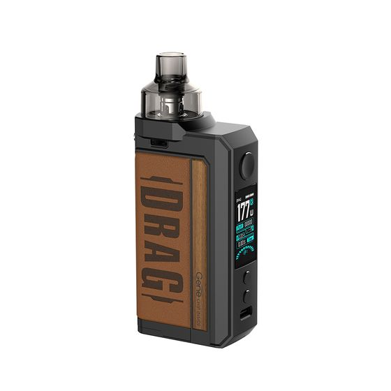 UK wholesale VOOPOO DRAG Max 177W TC Kit with PNP Tank Type: TPD Edition | Color: Vintage Brown
