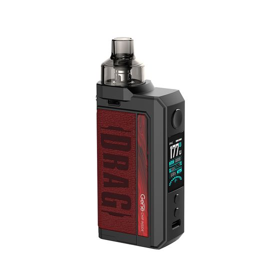 UK wholesale VOOPOO DRAG Max 177W TC Kit with PNP Tank Type: TPD Edition | Color: Marsala