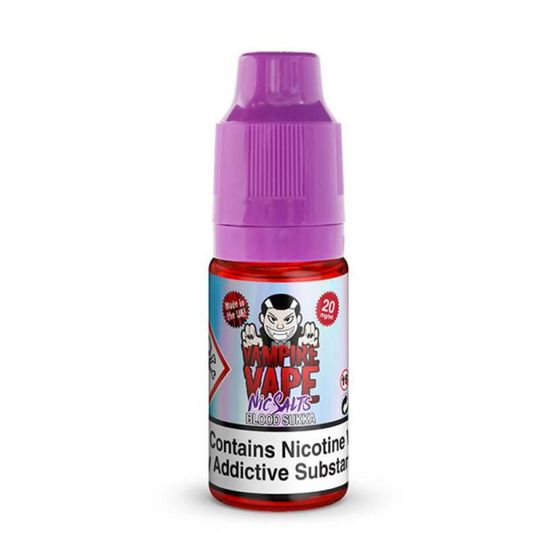 UK store Vampire Vape Blood Sukaa Nic Salts 10ml