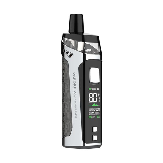 for wholesale Vaporesso TARGET PM80 Sub-ohm Pod Mod Kit 2000mAh (Care Version with 4 Coils) Color: Silver Net | Capacity: 2ml TPD Care Edition